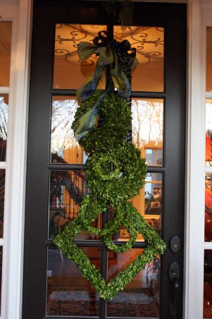 Holiday Home Tour in TN, Our home was featured in our neighborhood Holiday Home Tour, check out stop #1 and the favorite of all!, Fresh Boxwood wreaths make a grand wreath., Holidays Design