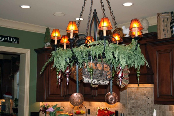 Holiday Home Tour in TN, Our home was featured in our neighborhood Holiday Home Tour, check out stop #1 and the favorite of all!, Not your typical pot rack., Holidays Design