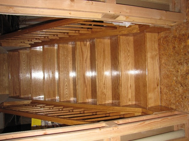 Basement Stair Replacement, Replaced existing basement stairs with completely custom hardwood stairs., New Stairs , Basements Design