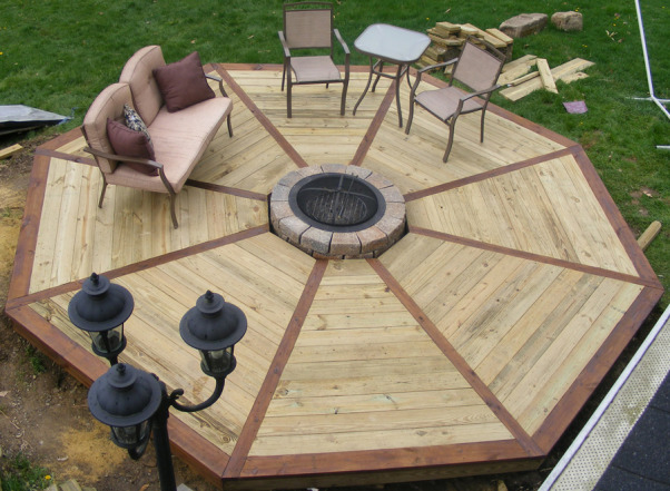 how to build a gazebo with fire pit