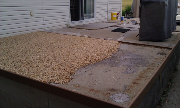 My own epoxy pebble beach, Beach Pebble epoxy patio, Patios & Decks Design