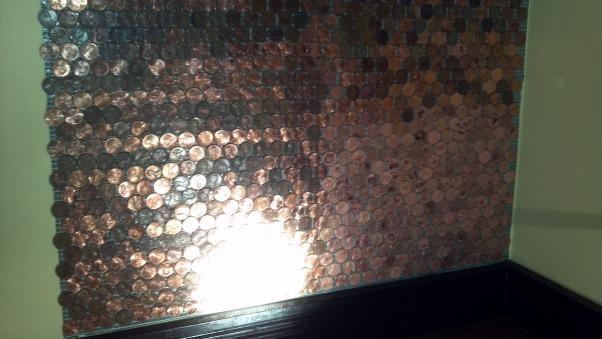 Copper Penny Back Splash, Kitchens Design