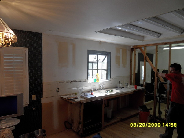 "Complete Remodeled Kitchen, We took down two walls and raised the ceiling 24"". Original kitchen was only 14' x 12'. It is now, approximately 30' x 12'. We combined an old laundry room, dinning nook and kitchen to create a beautiful new kitchen with tons of space., The beginning, Here is the kitchen as it was when I got to it. , Kitchens Design"