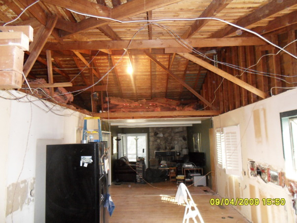 "Complete Remodeled Kitchen, We took down two walls and raised the ceiling 24"". Original kitchen was only 14' x 12'. It is now, approximately 30' x 12'. We combined an old laundry room, dinning nook and kitchen to create a beautiful new kitchen with tons of space., The attic had lots of space to allow us to raise the ceiling from 8 feet to 10 feet. , Kitchens Design"