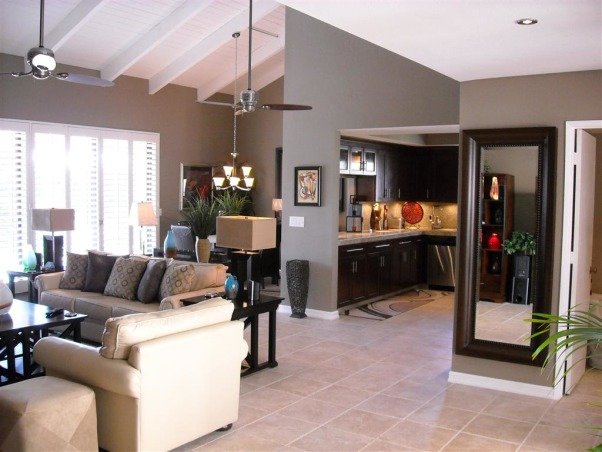 Great Room Remodel, Remodel of great room with bar, fireplace and vaulted ceilings., Great room after remodel    , Living Rooms Design