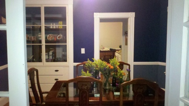 Deep Hues of Blue, Love my hutch working on fabulous plateware display! , Dining Rooms Design