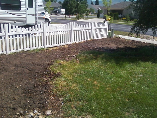 Yard 2012, Realized we needed to relay down the brick path.  It was apparently installed incorrectly.  We worked on that this year.  Had the fence installed, and put in a cottage for the kids., My leveled ground.  We removed ALL mounds in our yard.  , Yards Design