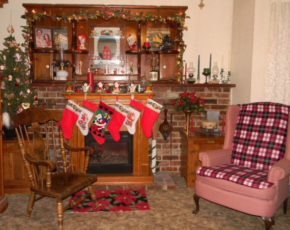 Cozy Comfortable Christmas , My family room all decked out for Christmas ~ 2011, The Stockings Were Hung by the Chimney with Care..... My family room ~ Christmas 2011   , Holidays Design