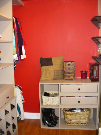 Closet Remodel , My husband built everything! He created this entire closet off our bedroom. This space used to be part of an enclosed back porch that was never used., The shelving unit , Closets Design