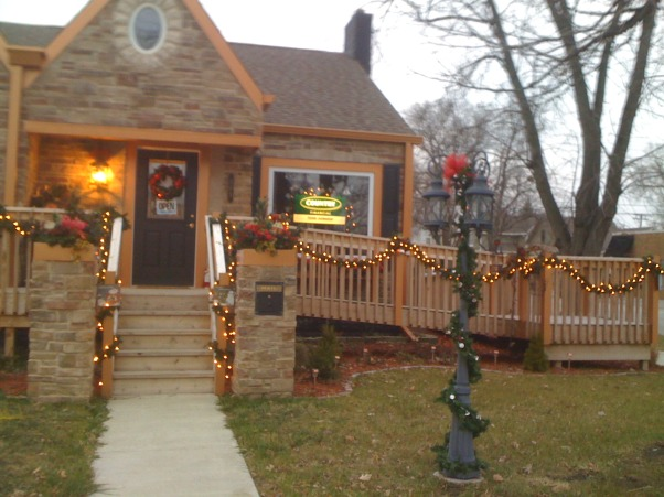 My new office exterior, This was a home that sat empty for over 2 years.  I purchased the home from the bank and designed a new exterior and interior., My festive new office!, Home Exterior Design