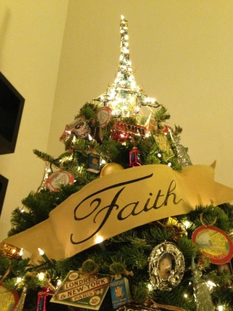 My Christmas Decorations 2012, Eiffel Tower as tree topper  , Living Rooms Design