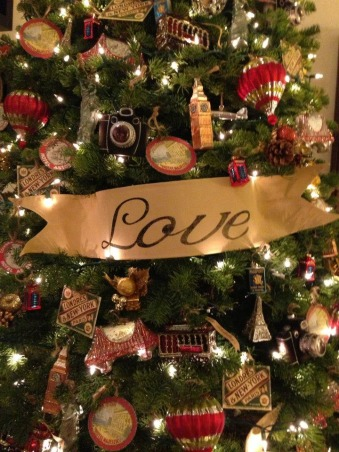My Christmas Decorations 2012, Travel inspired ornaments   , Living Rooms Design