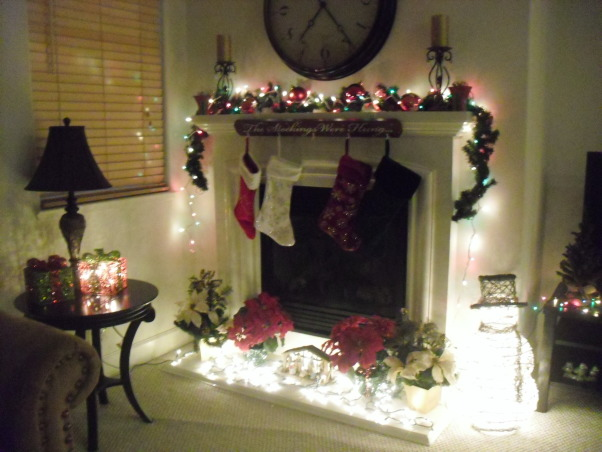 Mantel At Christmastime 2012, Christmas Mantel in Our Family Room 2012, Holidays Design