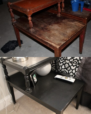 Furniture Revamps!, I love to repaint old furniture and make it look amazing!, side tables I found at a yard sale now sit on either side of my bed and make beautiful night stands!  , Other Spaces Design