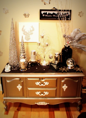 Classy Christmas, My decorations this Christmas - black, white, and mostly silver give it a chic look!, Winter wonderland hope chest, Holidays Design