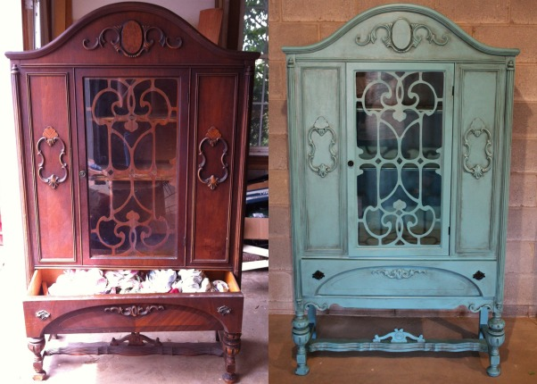 Furniture Revamps!, I love to repaint old furniture and make it look amazing!, not-so antique china cabinet!, Other Spaces Design