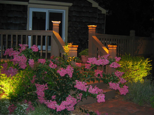 Deck Lighting, Deck lighting using lighted post caps and under railing LEDs., Deck lighting., Patios & Decks Design