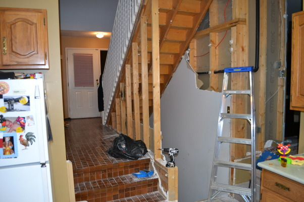 Entrance/ Staircase , Home built stairs and rail, Tear down , Other Spaces Design