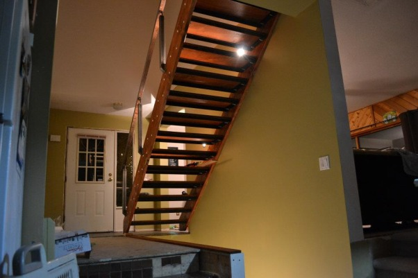 Entrance/ Staircase , Home built stairs and rail, installing  , Other Spaces Design