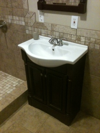 1953 SMALL BATHROOM REMODELED (2013), COMPLETED GUT JOB, Bathrooms Design