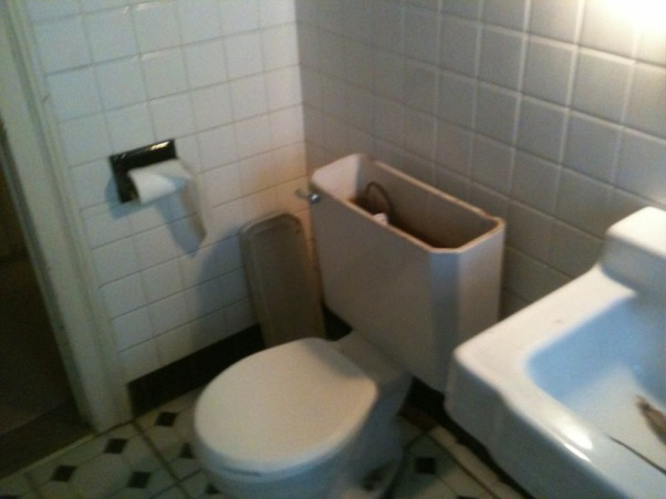 1953 SMALL BATHROOM REMODELED (2013), COMPLETED GUT JOB, BEFORE (1953)   , Bathrooms Design