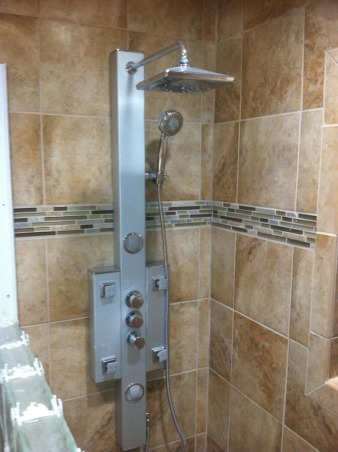 OUT WITH OLD IN WITH NEW, 1958 - 2013 BATHROOM UPDATES, NEW SHOWER SYSTEM, Bathrooms Design
