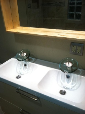OUT WITH OLD IN WITH NEW, 1958 - 2013 BATHROOM UPDATES, NEW SINKS THE WIFE HAD TO HAVE, Bathrooms Design