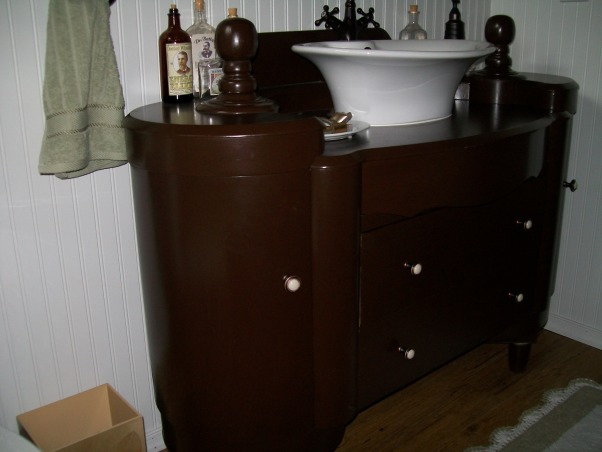 1920's Retreat., Went back in time from a 1970's bathroom to a 1920's style., 3 usable drawers, 2 side cabinets that swing out. , Bathrooms Design