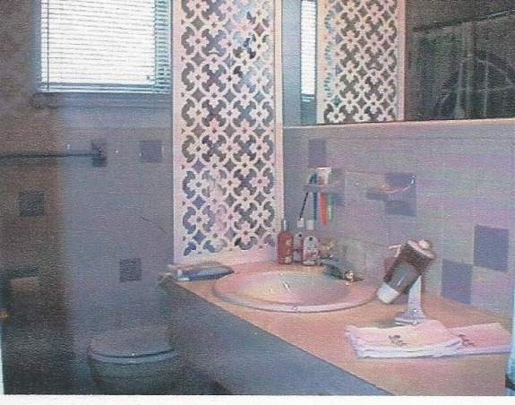 1920's Retreat., Went back in time from a 1970's bathroom to a 1920's style., Sorry about the picture quality. This is the original bathroom 1970's look. Lavender tiles, tub and toilet.  , Bathrooms Design