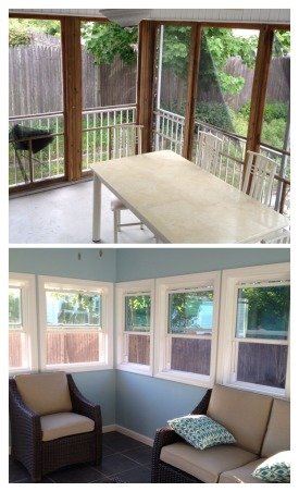 From unusable space to Sun Room, We had an unusable porch that was run down and an eye sore. We recently renovated this space into three seasons sun room. , Before and after picture. Renovations took 9 days, Porches Design