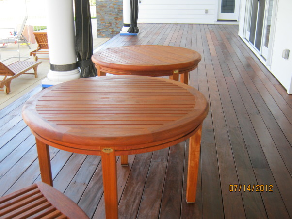 Deck Restoration,  How to restore an old deck to look beautiful again., The deck and furniture have been completely restored and the look fantastic. , Patios & Decks Design