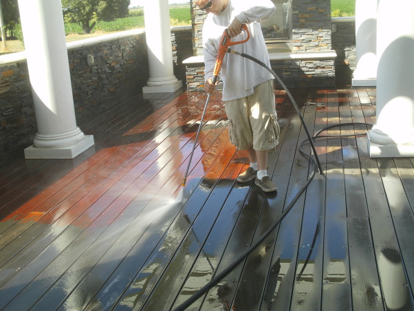 Deck Restoration,  How to restore an old deck to look beautiful again., Your old deck can usually be repaired and restored to it's original beauty. First it must be thoroghly cleaned and any bad deck boards replaced. , Patios & Decks Design
