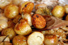 Whole Roasted Shallots and Potatoes With Rosemary