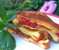 Fresh Tomato, Basil Grilled Cheese Sandwich