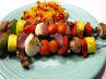 Pepper Garlic Beef Kabobs