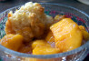 Light Fresh Peach Cobbler