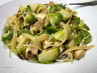 Pasta Shells With Chicken and Brussels Sprouts