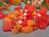 Cantaloupe and Watermelon Salad