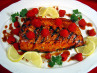 Mean Chef's Grilled Salmon With Red Currant Glaze