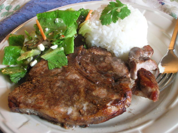 Spiced pork steak recipe