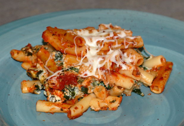 Ziti pasta recipes with spinach