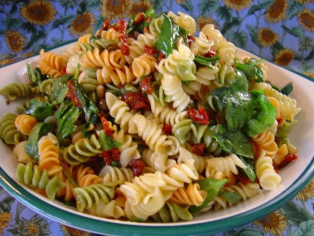 Pasta salad recipe spinach