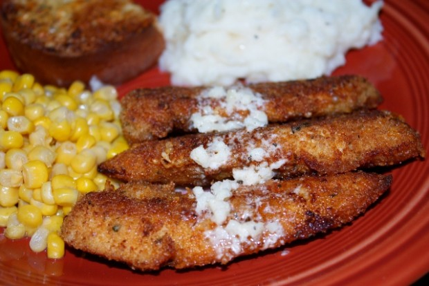 parmesan crusted chicken recipe - food