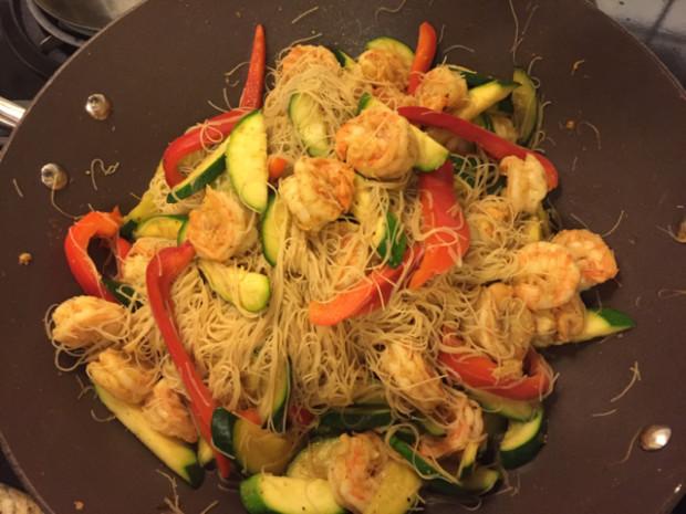 Singapore rice noodle - YouTube