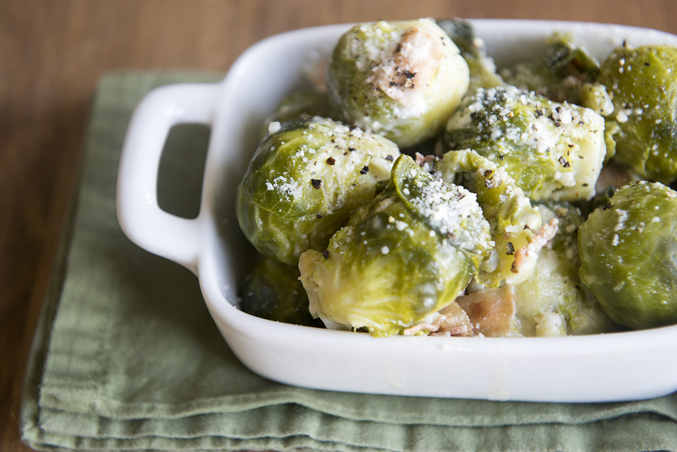 Bacon Parmesan Brussels Sprouts