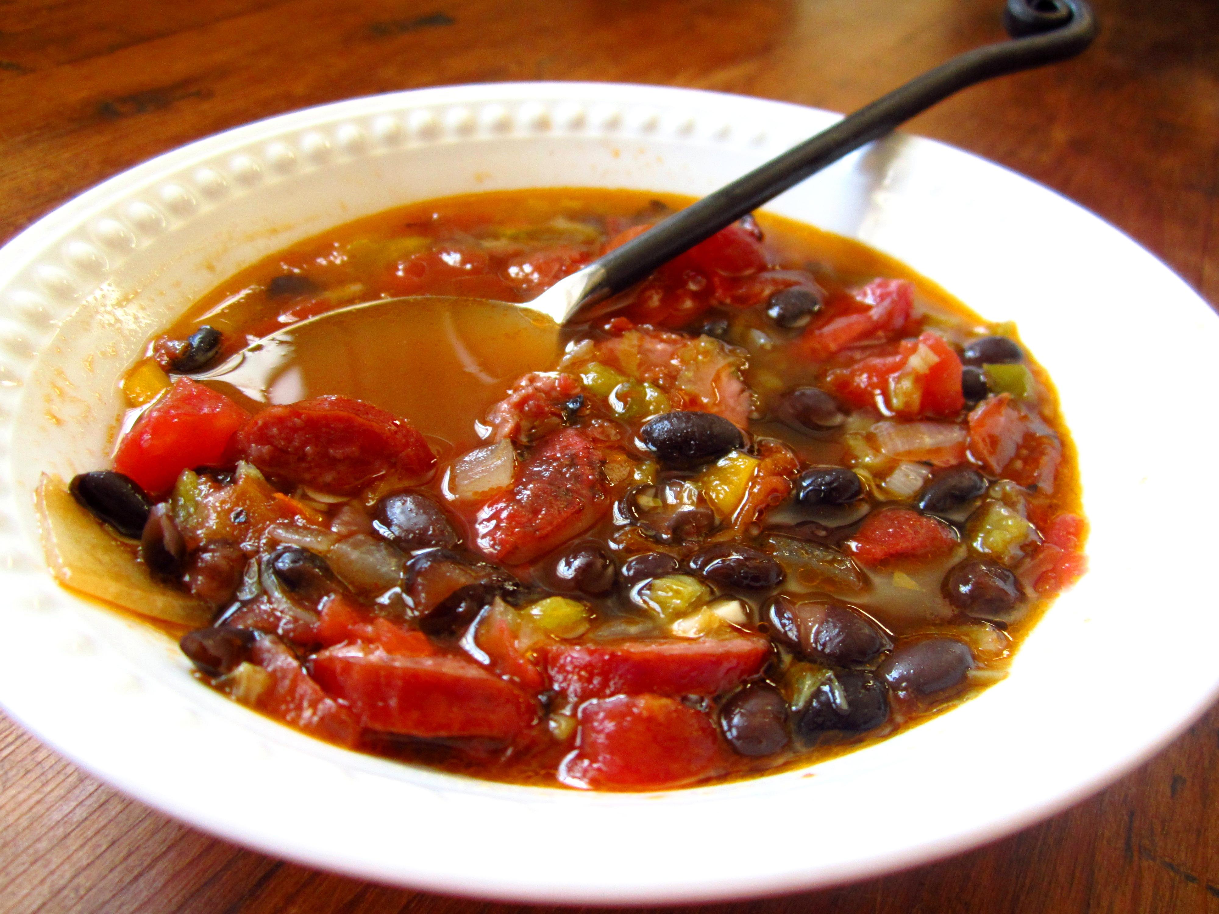 Black Bean and Smoked Sausage Soup