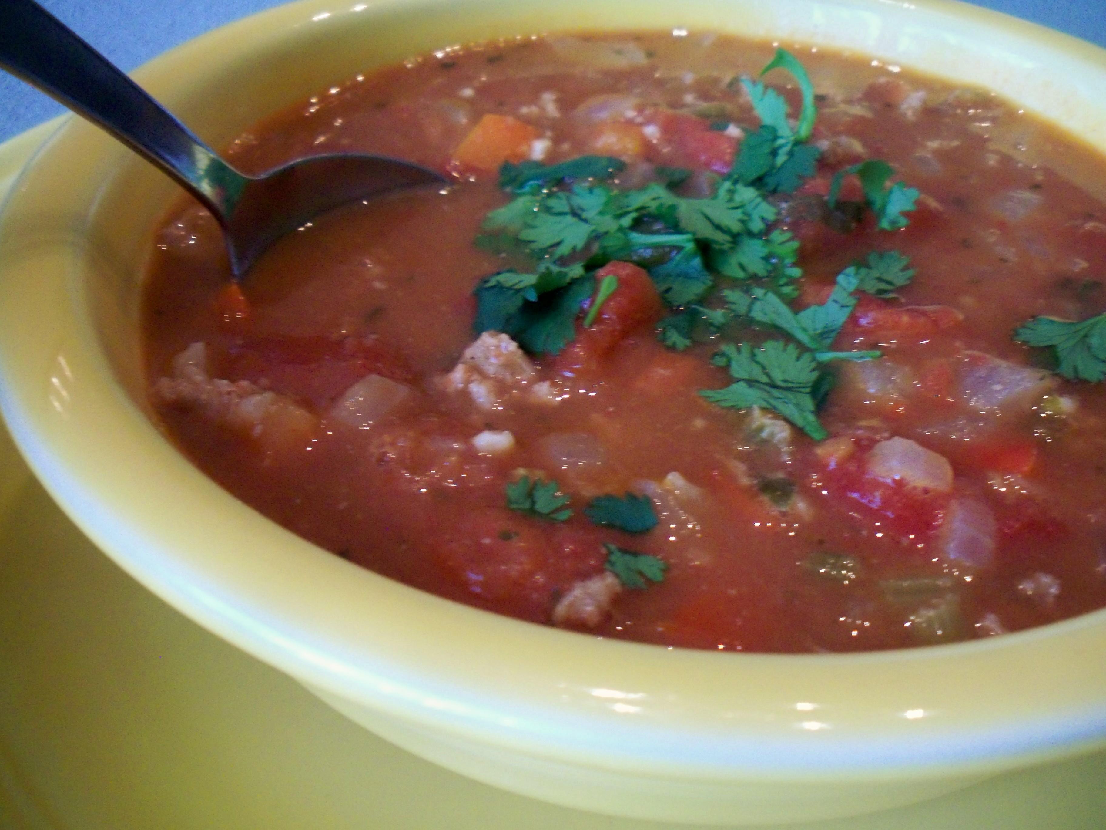 Beefy Refried Bean Soup Recipe