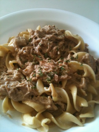Crock Pot Pork Stroganoff