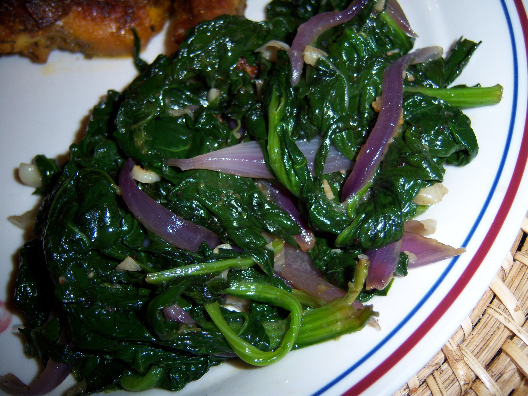 Spinach Saute With Brown Butter & Garlic