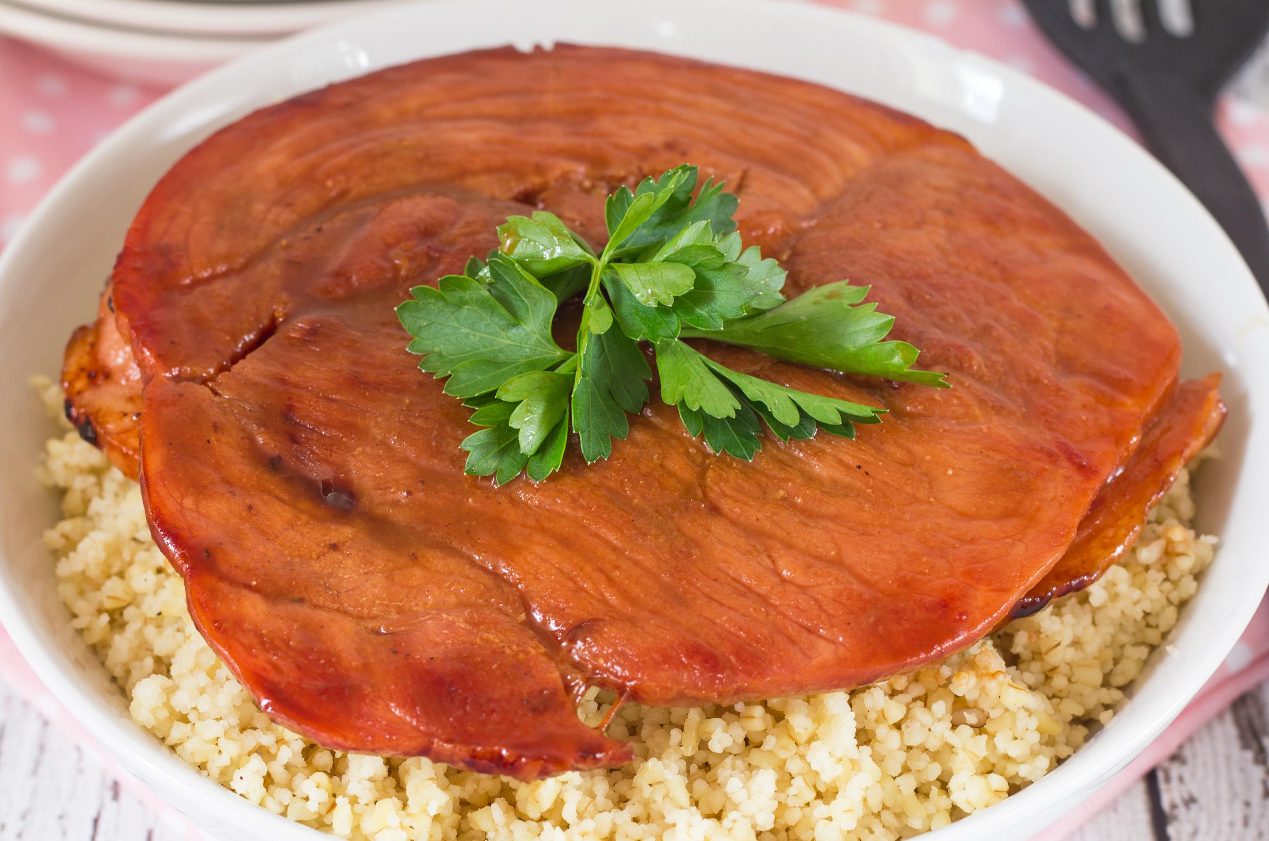 Maple Glazed Ham Steak